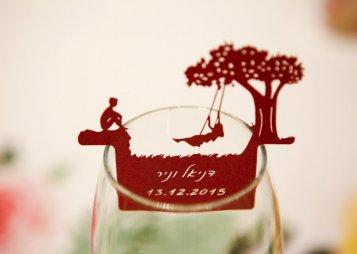 מיתוג לכוסות לכבוד חתונה