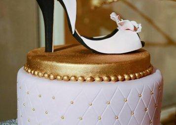 עוגה בצורת נעל עקב
