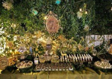 שולחן קינוחים בסגנון יער קסום