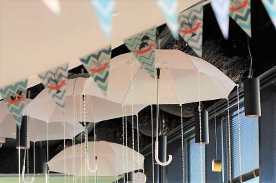אוירת חורף באמצעות מטריות