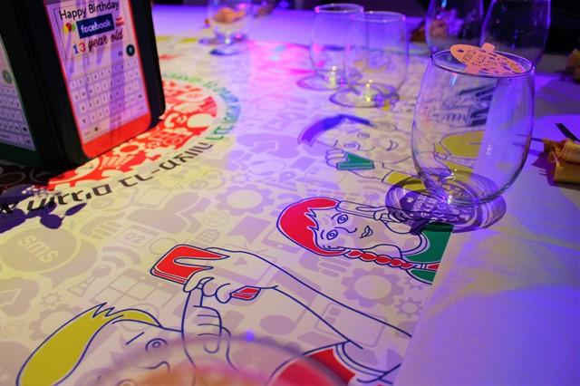 עיצוב שולחן לבר מצווה בנושא אפליקציות